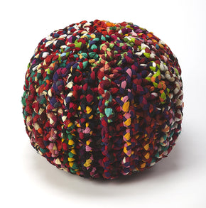 Butler Furniture 5292376 Lulu Multicolor Braided Pouffe 797379046592