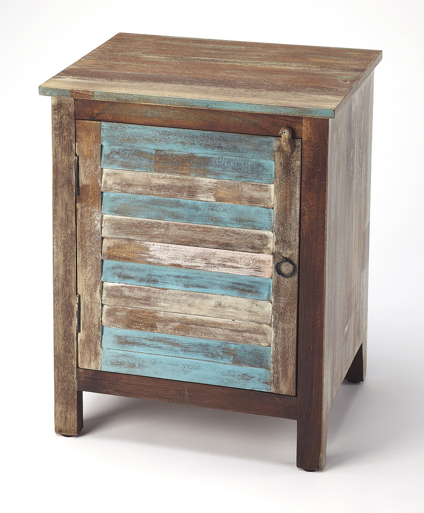 Amazing Rustic Shutter Painted Accent Cabinet Onthecornerstone Fun Painted Chair Ideas Images Onthecornerstoneorg