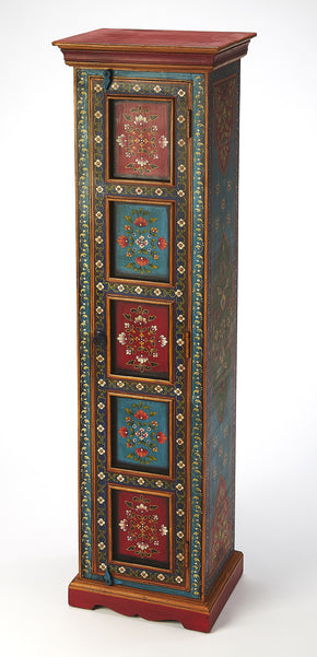 Butler Furniture 5364290 Amir Hand Painted Tall Cabinet 797379046288