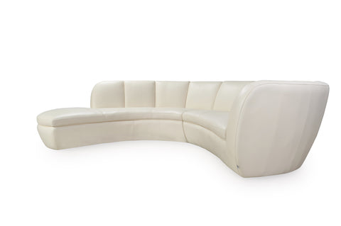Crescenta Contemporary Sectional 2pcs Cream