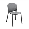 DesignLab MN LS-9603-BLK Muut Black Grey Modern Stackable Side Chair (Set of 4) 646263991039