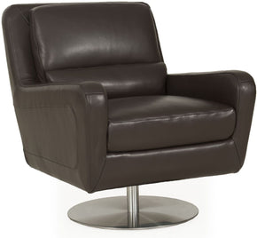 Swan Contemporary Full Leather Chair Cocoa