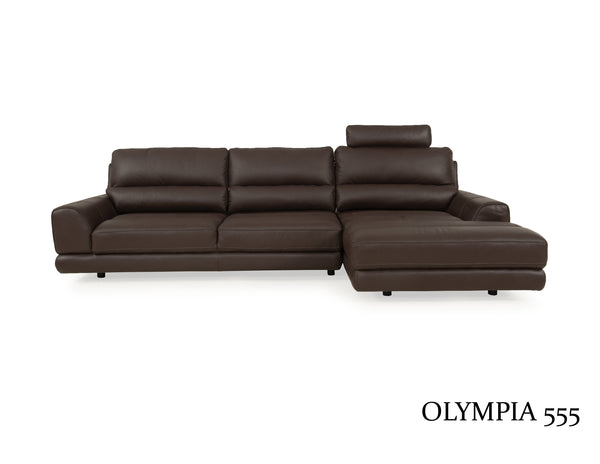 Olympia ADJUSTABLE Contemporary Sectional 2pcs Brown