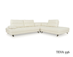 Moroni 556SCB1296 Teva ADJUSTABLE Contemporary Sectional 3pcs Snow White