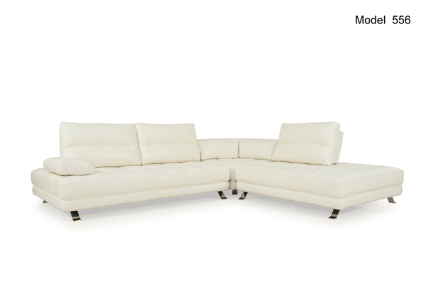 Teva ADJUSTABLE Contemporary Sectional 3pcs Snow White