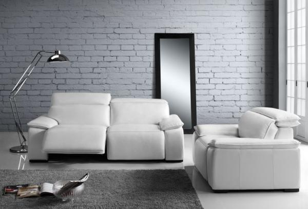 Yorbita motorized chair pure white full leather