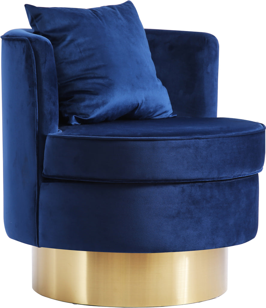 Buy Meridian 576navy Kendra Navy Velvet Accent Chair At Contemporary