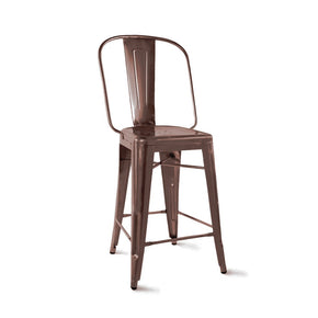 DesignLab MN LS-9111-RMT Dreux Rustic Matte Steel Counter Chair 24 Inch (Set of 4) 646263990872