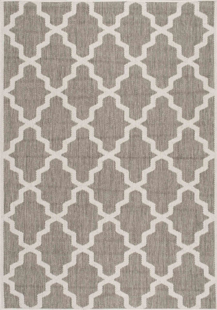 Nuloom Machine Made Gina Outdoor Moroccan Trellis Taupe Rug