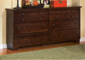 Progressive Furniture 61662-23/50 Diego Casual Dresser And Mirror Espresso Pine