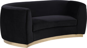 Meridian Furniture 620Black-L Julian Black Velvet Loveseat 647899950230