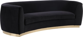 Meridian Furniture 620Black-S Julian Black Velvet Sofa 647899950223