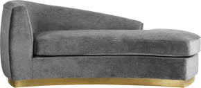 Meridian Furniture 620Grey-Chaise Julian Grey Velvet Chaise 647899948190