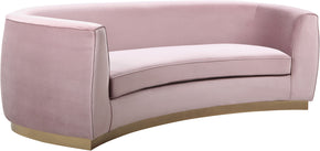 Meridian Furniture 620Pink-S Julian Pink Velvet Sofa 647899950315
