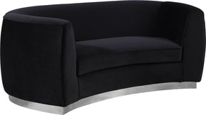 Meridian Furniture 621Black-L Julian Black Velvet Loveseat 647899950384