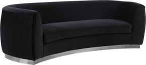 Meridian Furniture 621Black-S Julian Black Velvet Sofa 647899950377