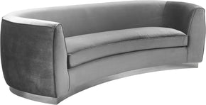 Meridian Furniture 621Grey-S Julian Grey Velvet Sofa 647899950407