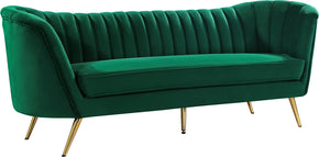 Meridian Furniture 622Green-S Margo Green Velvet Sofa 647899951770