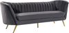 Meridian Furniture 622Grey-S Margo Grey Velvet Sofa 647899951749