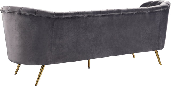 Margo Grey Velvet Sofa