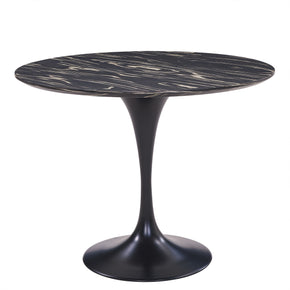 "New Pacific Direct 6300054 Allie 39"" Striped Ebony Wood Veneer Round Dining Table,  Ebony Ebony"
