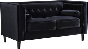 Meridian Furniture 642Black-L Taylor Black Velvet Loveseat 647899951701
