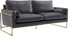 Meridian Furniture 678Grey-S Mila Grey Velvet Sofa 647899949999
