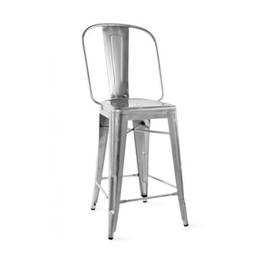 DesignLab MN LS-9112-GUN Dreux Gunmetal Steel Counter Chair 26 Inch (Set of 4) 646263990896