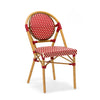 Dining Chairs - Design Lab MN LS-3001-REDCRM Le Marais Aluminum Bamboo Stackable Side Chair | 655222620675 | Only $144.80. Buy today at http://www.contemporaryfurniturewarehouse.com