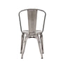 Dining Chairs - Design Lab MN LS-9000-2-GUN Dreux Gunmetal Steel Stackable Side Chair (Set of 2) | 655222620453 | Only $129.80. Buy today at http://www.contemporaryfurniturewarehouse.com