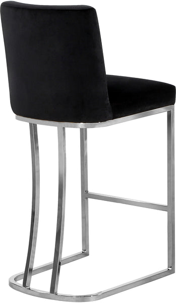 Bar Chairs - Meridian 708Black-C Heidi Black Velvet Stool | 647899951848 | Only $174.80. Buy today at http://www.contemporaryfurniturewarehouse.com