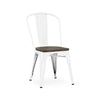 Dreux Glossy White Elm Wood Stackable Side Chair (Set of 2)