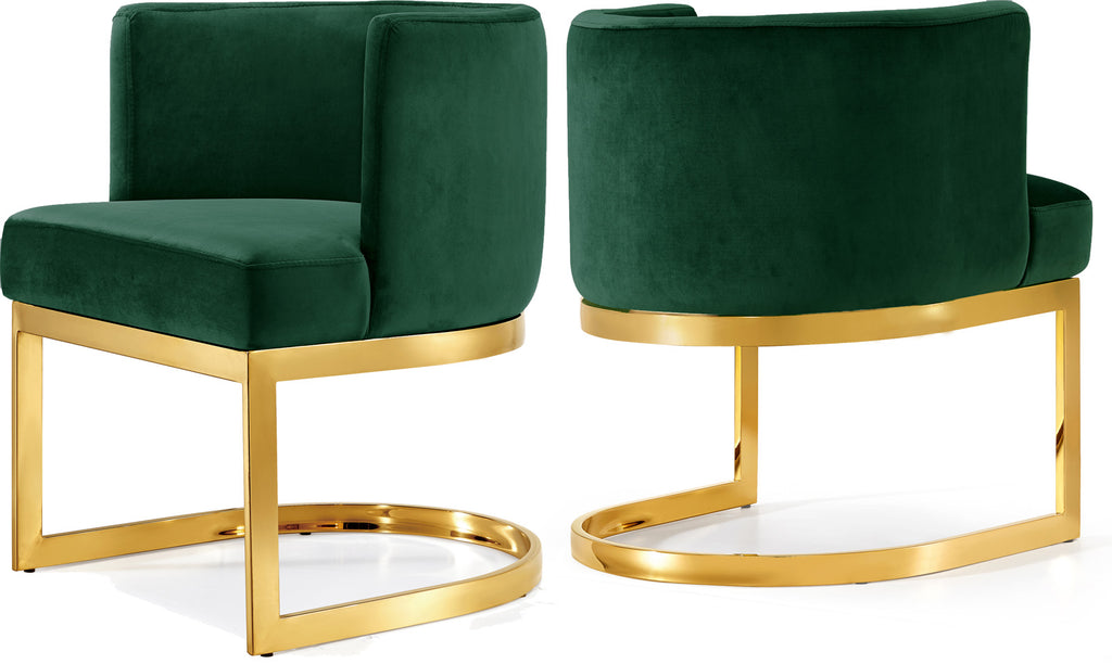 Incredible Gianna Green Velvet Dining Chair Lamtechconsult Wood Chair Design Ideas Lamtechconsultcom