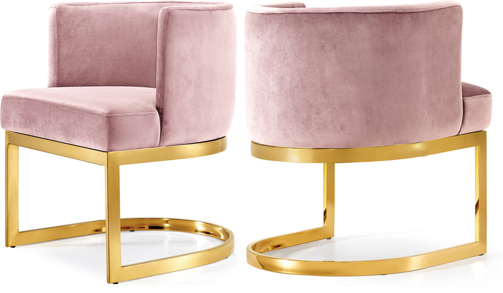 Terrific Gianna Pink Velvet Dining Chair Lamtechconsult Wood Chair Design Ideas Lamtechconsultcom