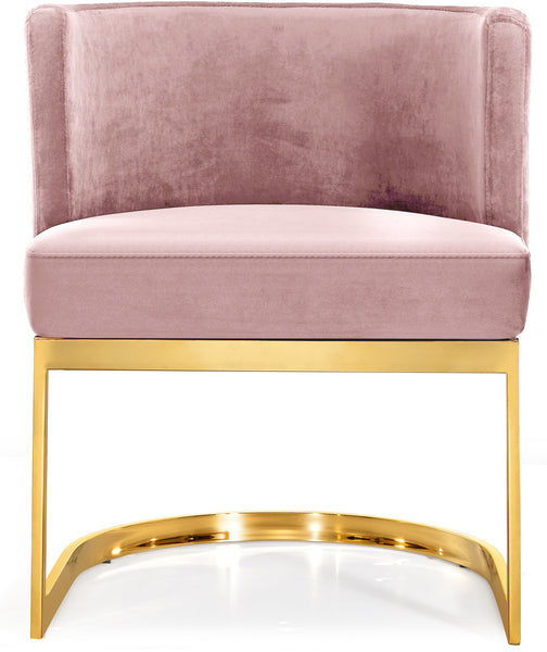Miraculous Gianna Pink Velvet Dining Chair Lamtechconsult Wood Chair Design Ideas Lamtechconsultcom
