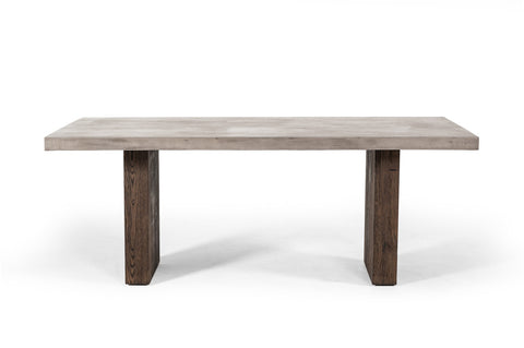 Rimus Modern Concrete & Oak Dining Table