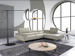 Vig Furniture VGNTWISH-C409 Estro Salotti Wish Modern Grey Leather Sectional Sofa