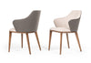 Modrest Megan Modern Beige & Grey Dining Chair