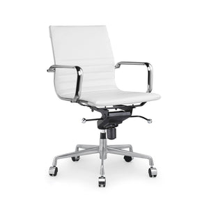 DesignLab MN LS-0009-WHTCRM Decade White Modern Classic Aluminum Office Chair (Set of 2) 646263991374
