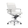 Century White Padded Modern Classic Aluminum Office Chair