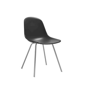 DesignLab MN LS-9442-BLKGRY Grazia Black Mid Century Side Chair Grey Base Original Design (Set of 4) 646263991558