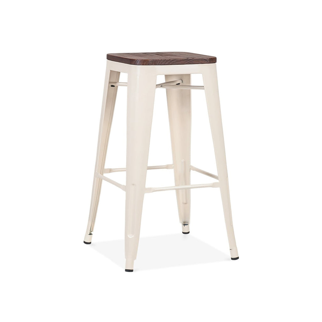Awe Inspiring Dreux Glossy Cream Elm Wood Steel Stackable Counter Stool 26 Inch Set Of 4 Camellatalisay Diy Chair Ideas Camellatalisaycom