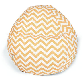 Yellow Chevron Small Classic Bean Bag | Modern Bean Bag by Majestic Home at Contemporary Modern Furniture  Warehouse