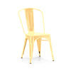 Dreux Metallic Gold Steel Stackable Side Chair (Set of 2)