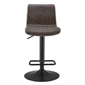 Jayden Low back Gas-lift Bar Stool Vintage Coffee Brown (Set of 2)
