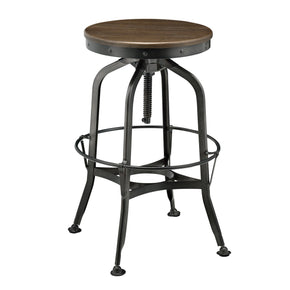 New Pacific Direct 9300040 Industrial Vintage Bar Stool Walnut