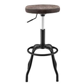 New Pacific Direct 9300042-238 Eaton Gaslift Bar Stool Vintage Coffee Brown
