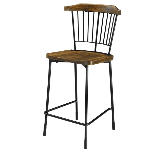 New Pacific Direct 9300044 Greco Counter Stool, Set of 2 Walnut