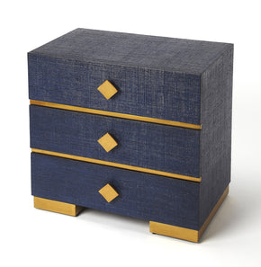 Butler Furniture 9390361 Elsa Blue Raffia Console Chest 797379043355