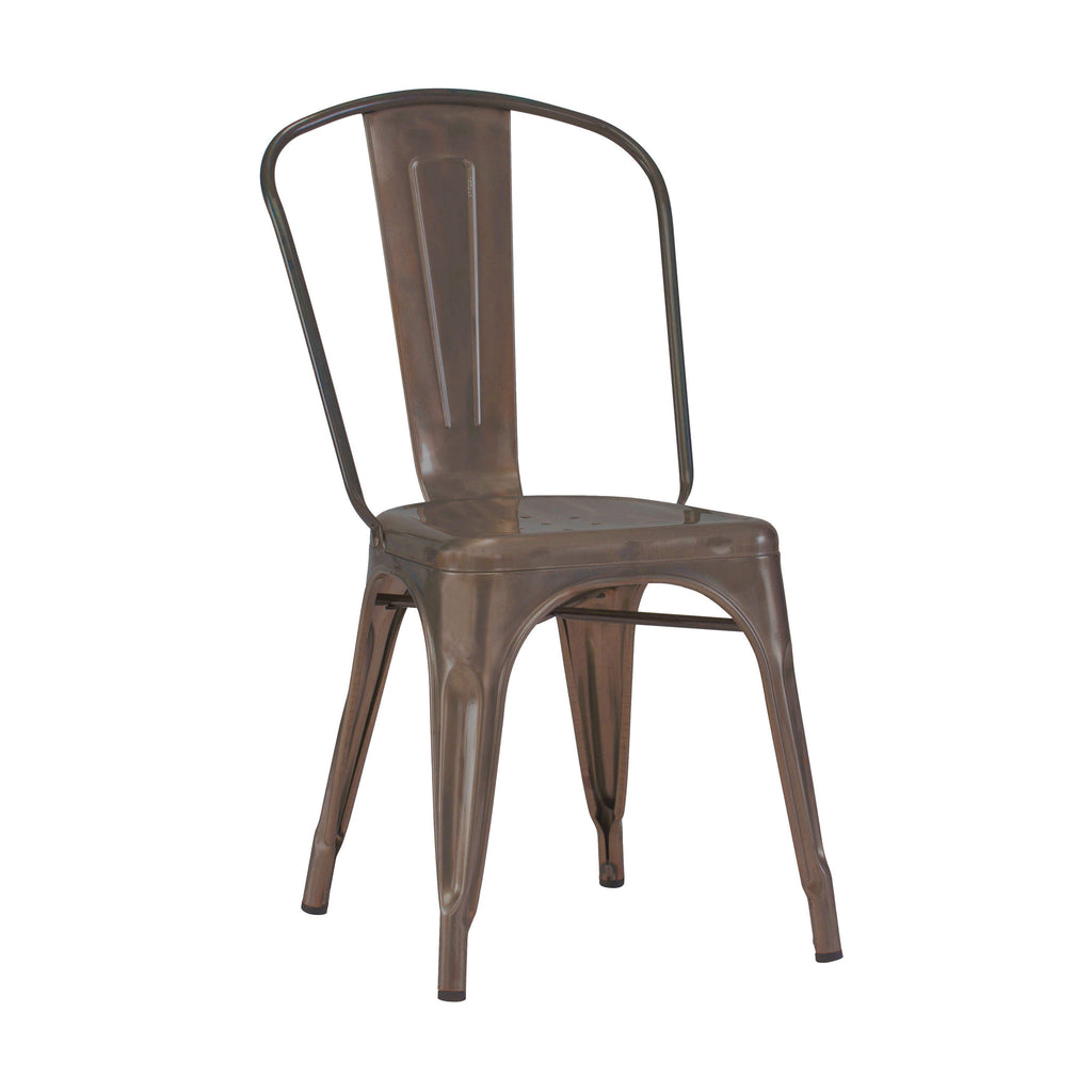 DesignLab MN LS-9000-2-RMT Dreux Rustic Matte Steel Stackable Side Chair (Set of 2) 655222620538